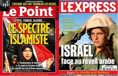 portadas de Le Point (edición del 3 de febrero) y L'Express (edición del 9 de febrero)